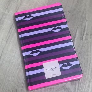 Kate spade lips 👄 notebook 168 lined pages new